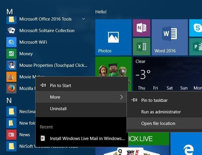 create desktop shortcut to program in Windows 10 step4