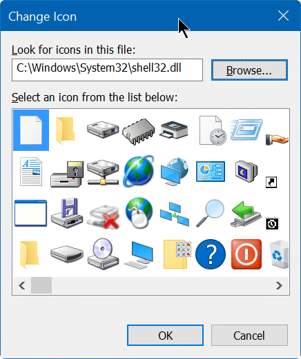 create shut down, hibernate, sign out shortcut on desktop Windows 10 step4