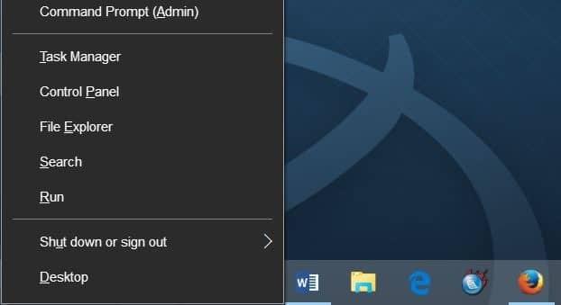 keyboard shortcuts to shutdown restart Windows 10 step1