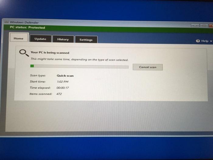 use Windows defender offline scan in Windows 10 pic2