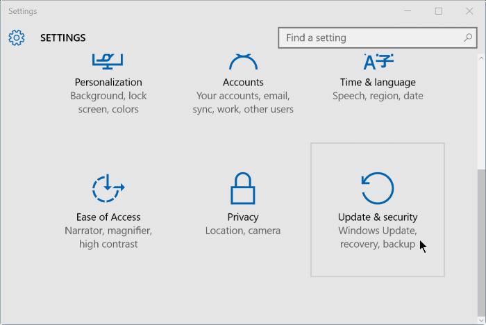 use Windows defender offline scan in Windows 10 step2