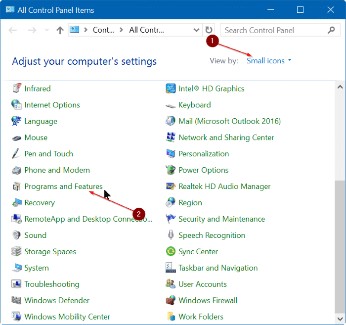 Check install date of apps and programs in Windows 10 step5