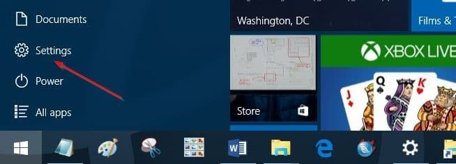 File Explorer missing from Start menu in Windows 10 step1