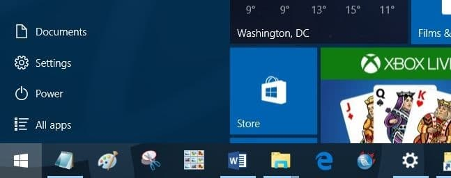 File Explorer missing from Start menu in Windows 10
