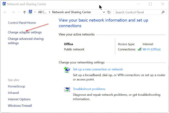 View saved WiFi password in Windows 10 Step2