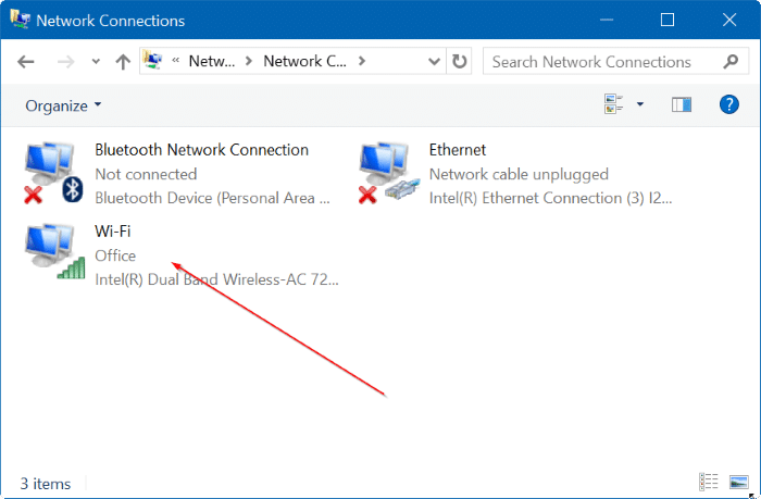 View saved WiFi password in Windows 10 Step3