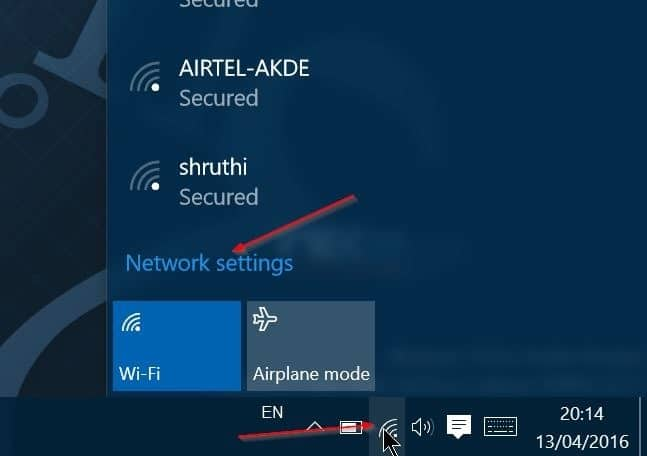 Windows 10 not remembering wifi password step1