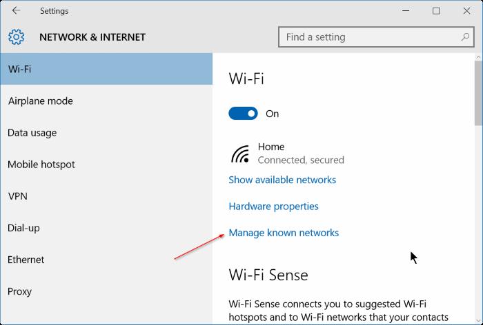 Windows 10 not remembering wifi password step2