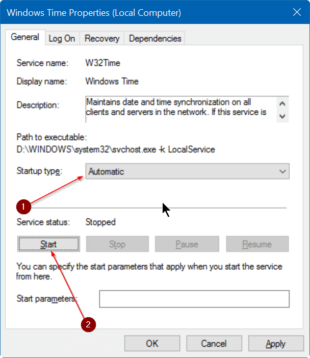 fix incorrect date and time in Windows 10 step7