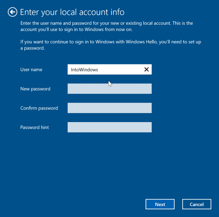 sign out of Microsoft account in Windows 10 pic5