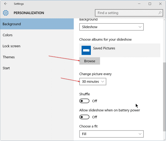 How To Enable Desktop Background Slideshow In Windows 10