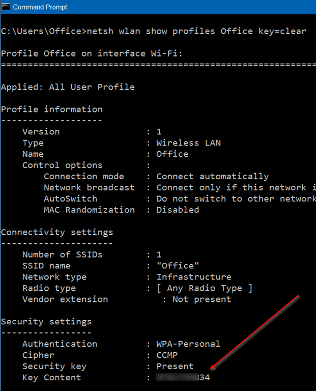 how to find the wifi password on window 10