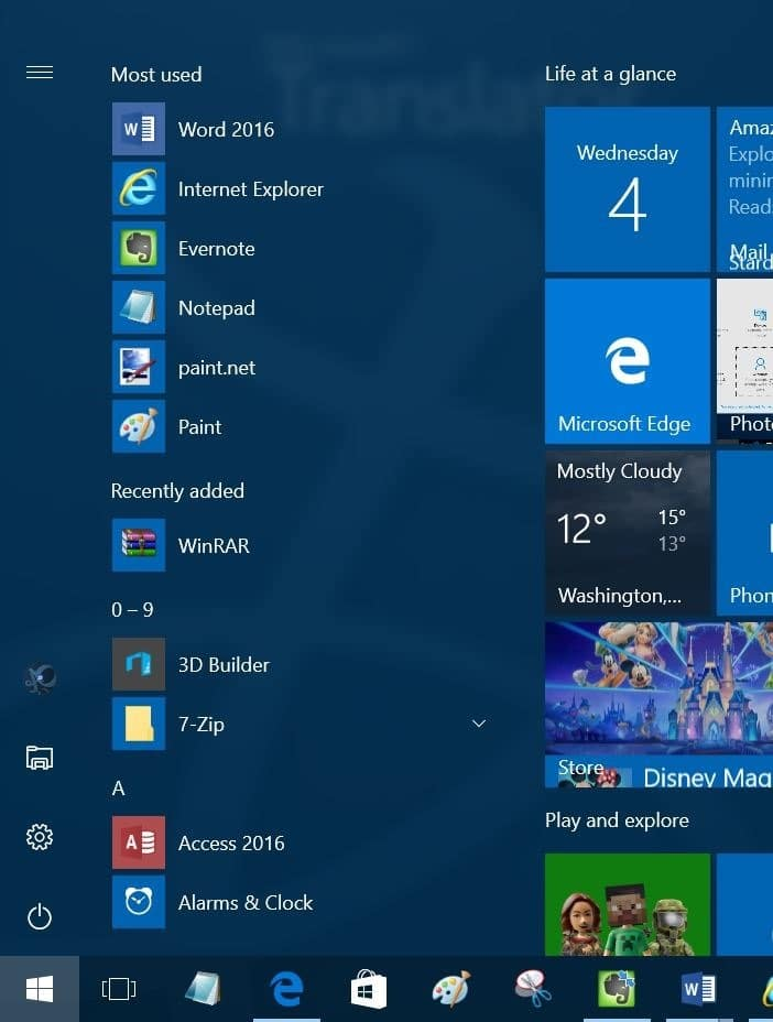 All apps button missing from Start menu Windows 10