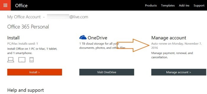 Check Office 365 subscription expiry date step3