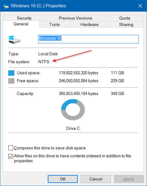 Extend volume grayed out in Windows 10 pic3