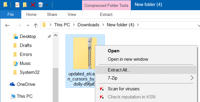 Mac cursor for Windows 10
