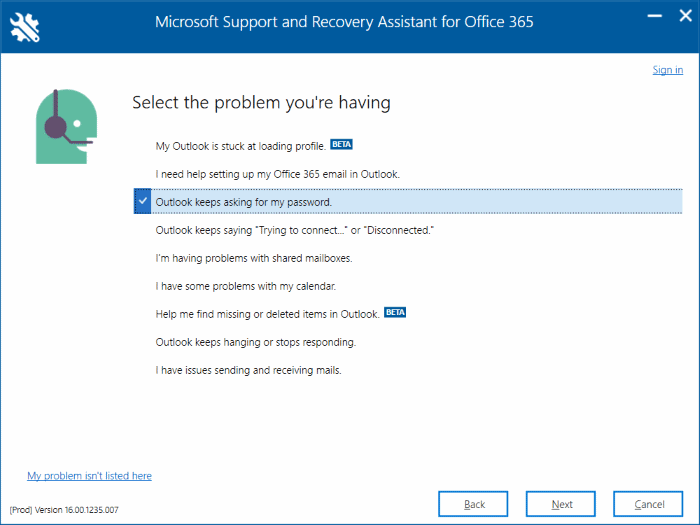 Office 365 troubleshooting tool from Microsoft pic3