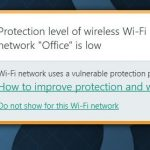 Protection Level Of Wireless Wi-Fi Network Is Low Message By Kaspersky