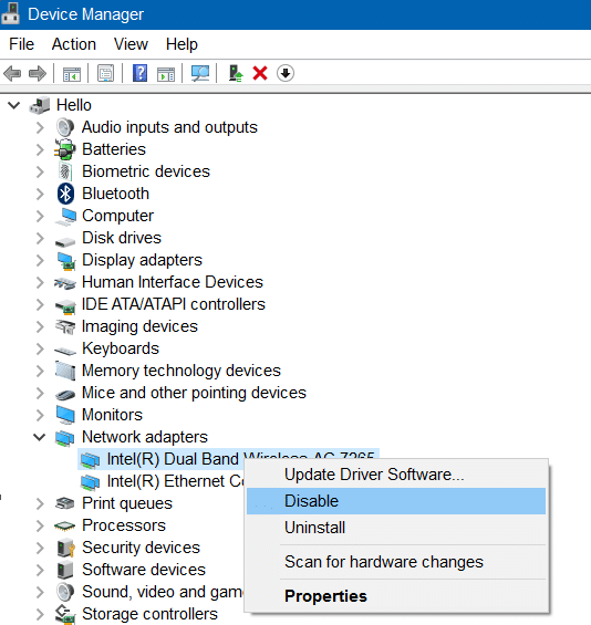 wi fi not connecting after sleep mode in windows 10 step01