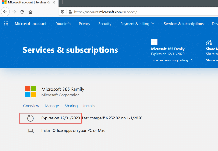 check Microsoft Office 365 expiration date pic4