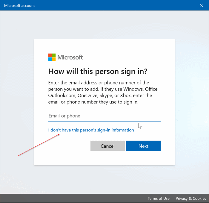 create a local user account in Windows 10 pic2