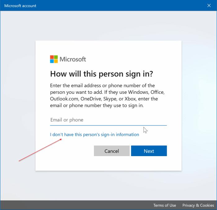 create a local user account in Windows 10 pic2