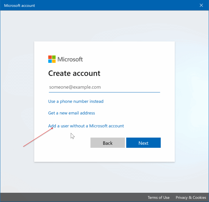 create a local user account in Windows 10 pic3