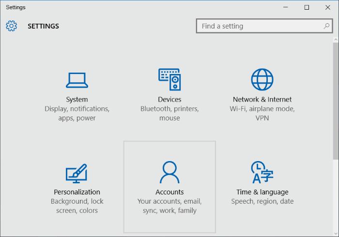 create a new local user windows 10