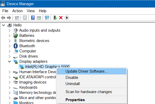 how to install display adapter driver in win 10
