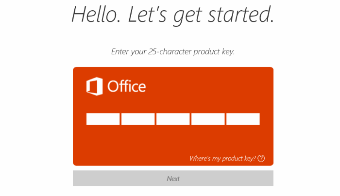 enter an office product key free 2019
