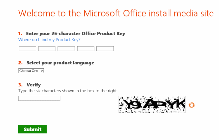 download office 2016 using product key pic5
