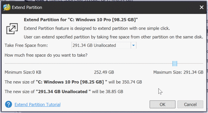 extend partition grayed out in Windows 10 pic3