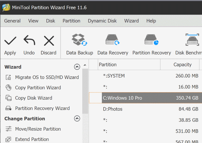 extend partition grayed out in Windows 10 pic4