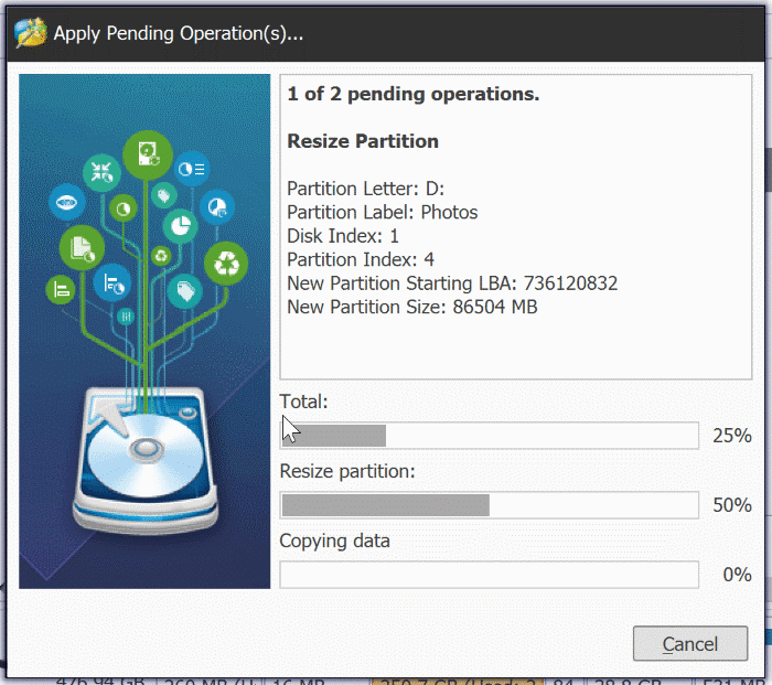 extend partition grayed out in Windows 10 pic6