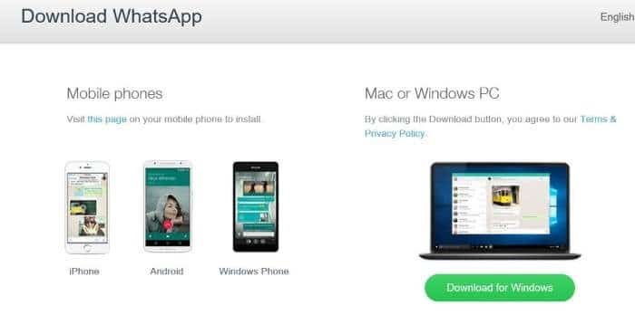 install Whatsapp desktop on Windows 10 step1