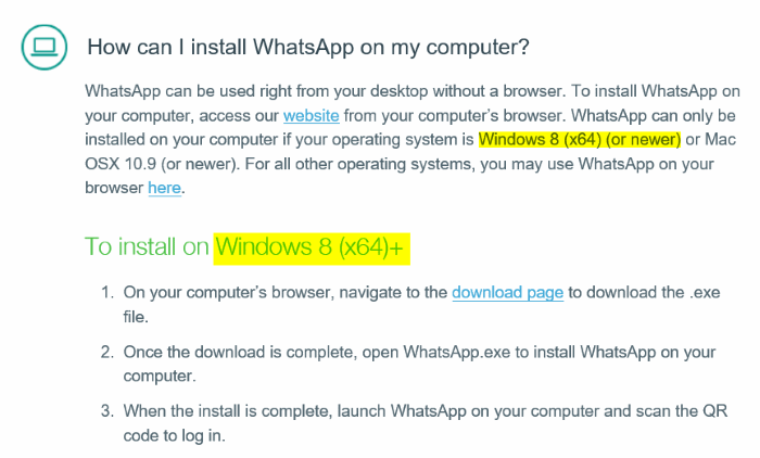 install Whatsapp desktop on Windows 7 picture1