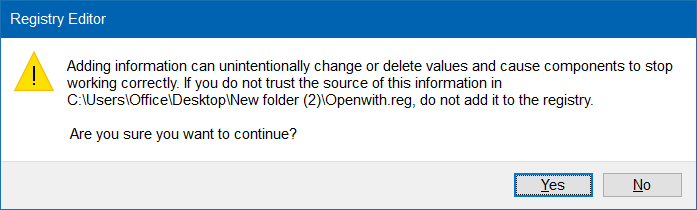 open with missing Windows 10 step9