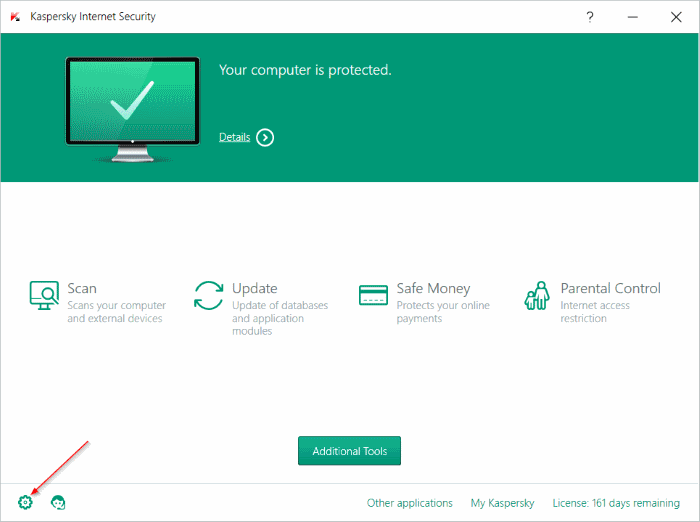 protection level of WiFi network is low kaspersky step2