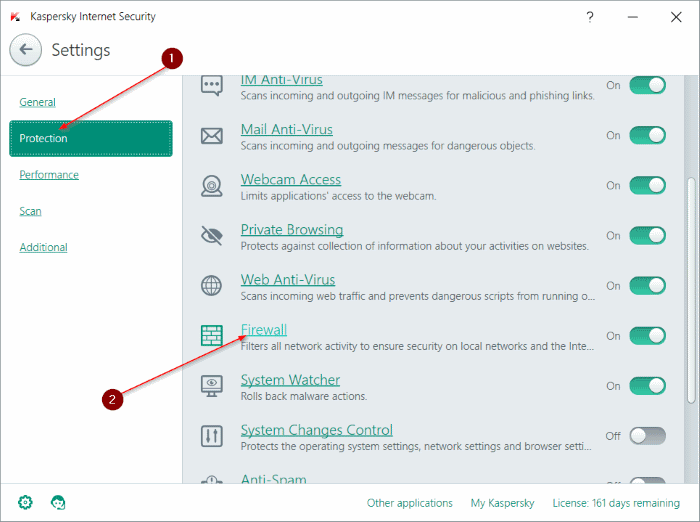 protection level of WiFi network is low kaspersky step3