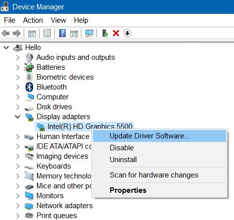 unable to adjust brightness in Windows 10 step2