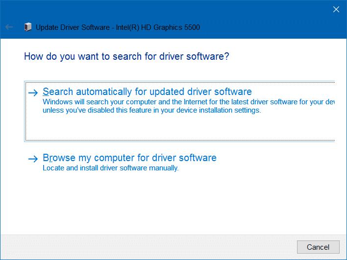 unable to adjust brightness in Windows 10 step3