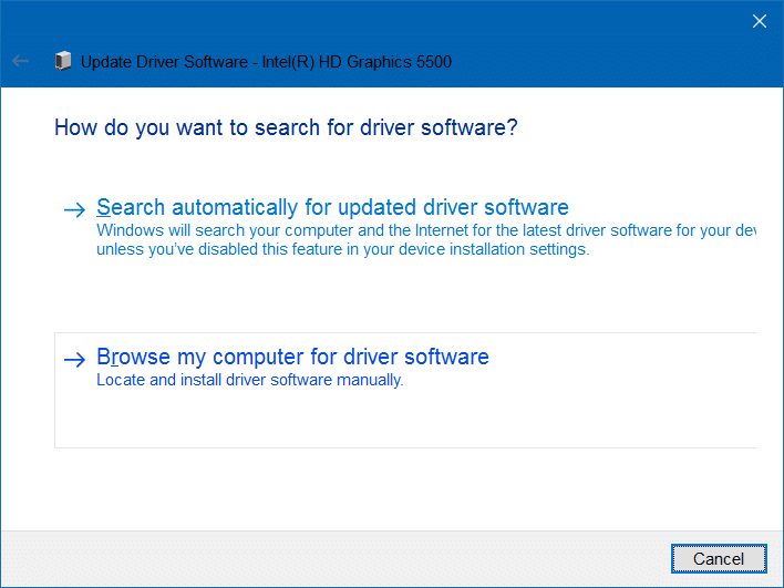 unable to adjust brightness in Windows 10 step5