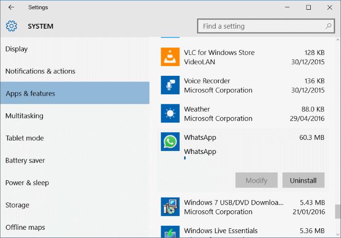 Uninstall & Remove WhatsApp Desktop App From Windows 10/7