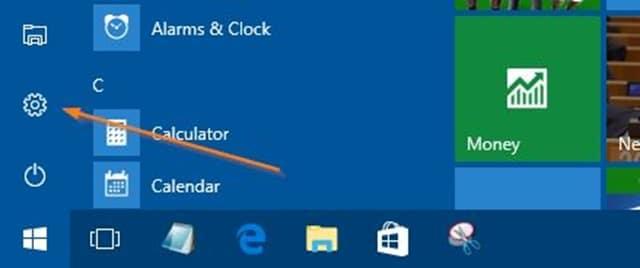 Access UEFI settings in Windows 10 step1