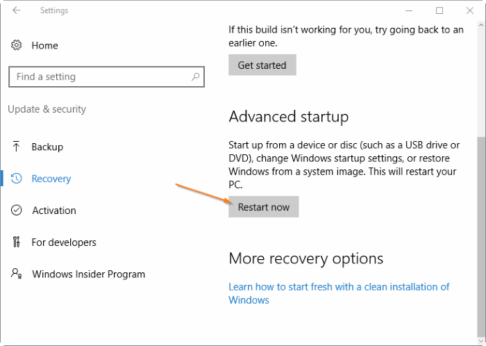 how to open bios settings in windows 10