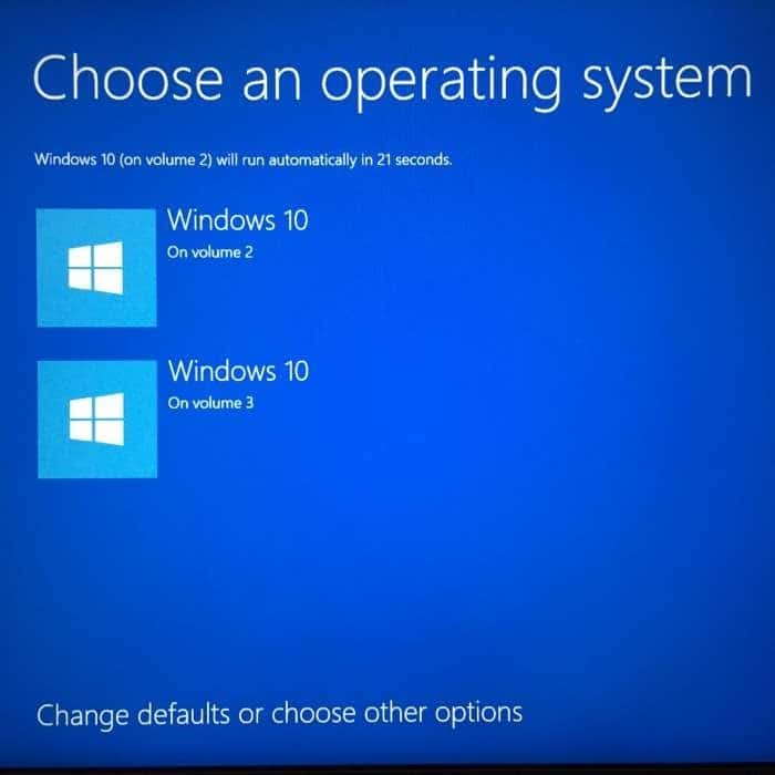 How to change the default operating system in windows 10 for How to choose windows
