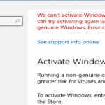 Fix Windows 10 Activation Error Using Troubleshooter