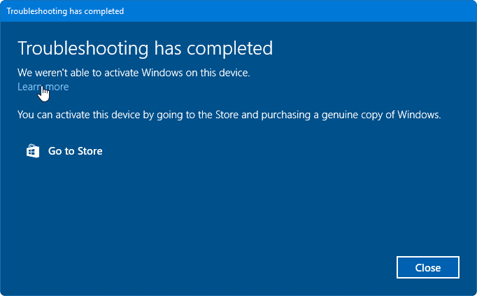Fix activation issues in Windows 10 with this troubleshooter pic3