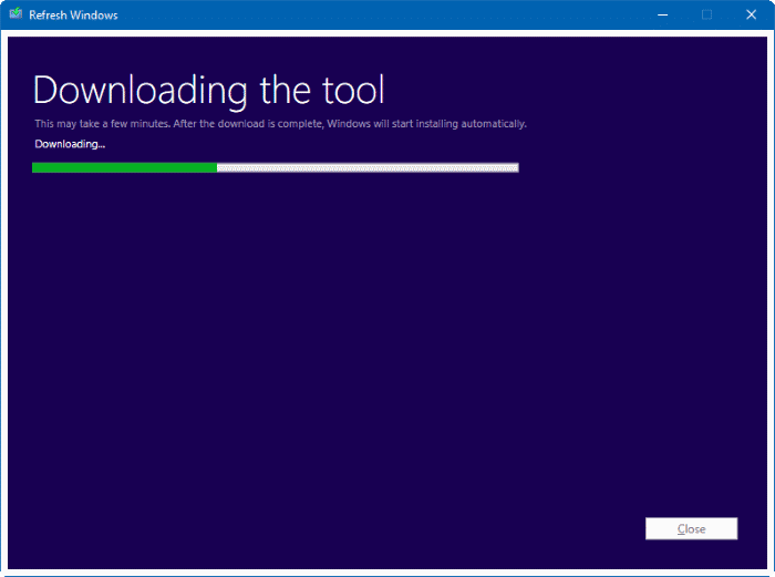 Refresh Windows tool for Windows 10 pic2