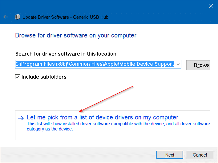 Generic usb hub driver windows 7